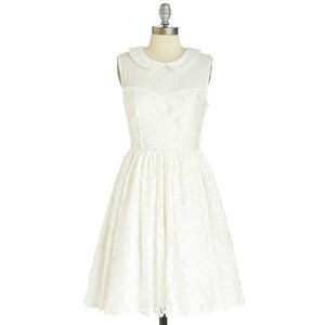 ModCloth  Fit Flare Dress Tulle Lace Three Tier XS